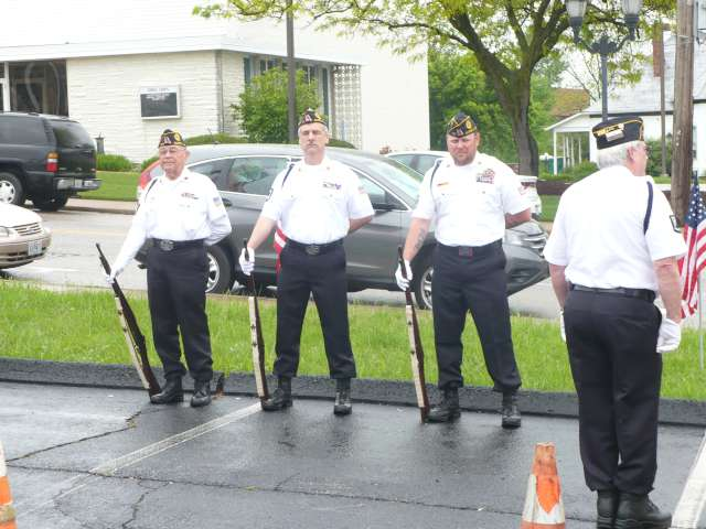 Post 177 Color Guard Rifle Team at Marine Benefit