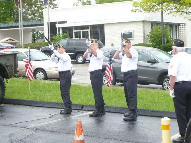 Post 177 Color Guard's Rafle Team at Marine Benefit