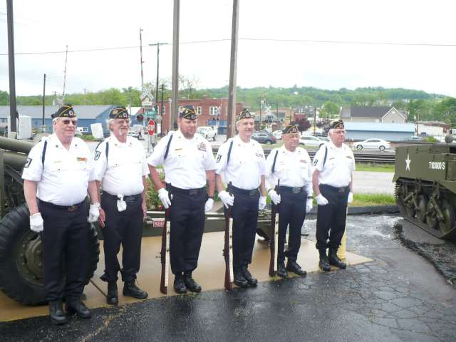 Post 177 Color Guard at Marine Benefit